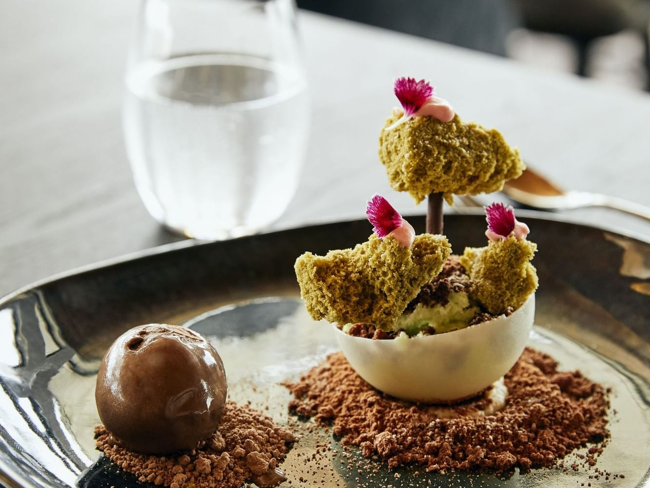 Dessert served in Infinity Restaurant at Daydream Island Resort