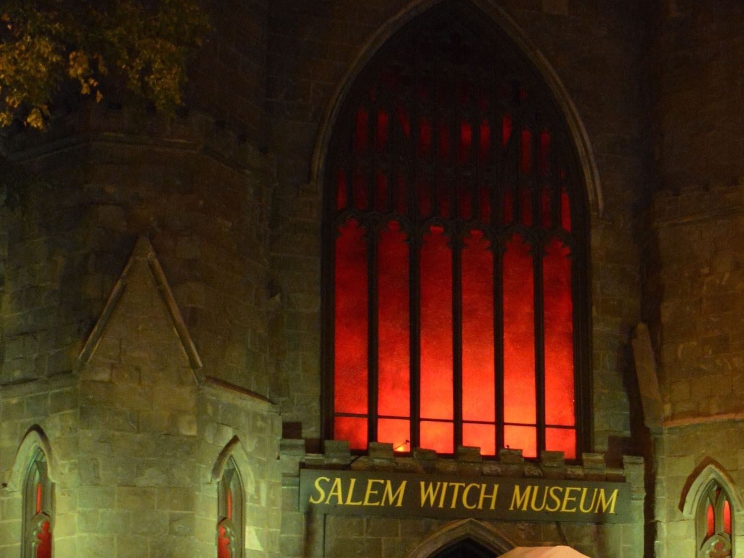 front of the Salem Witch Museum