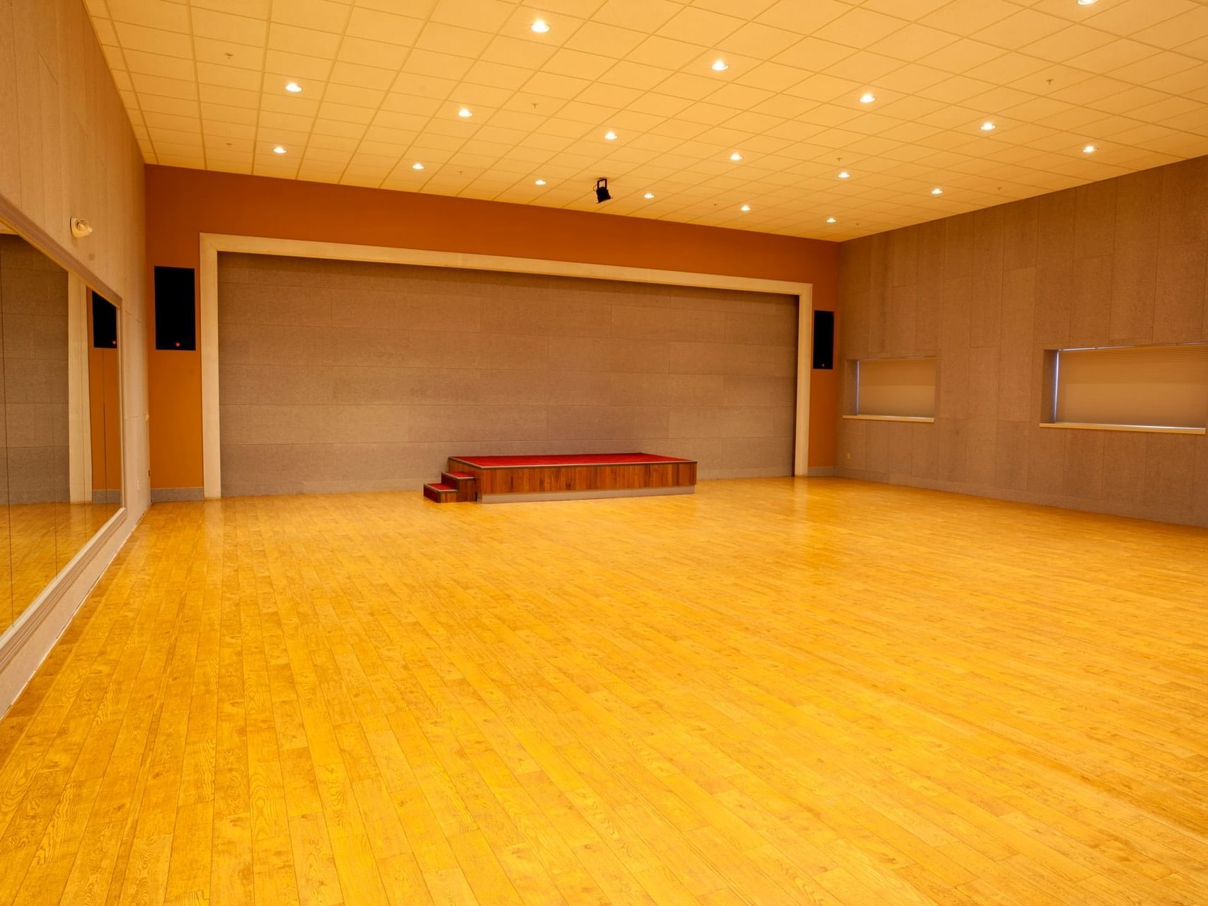 Empty hall for event