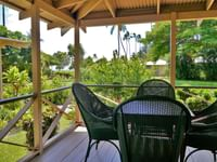 private patio seating at our cabins located at Waimea Plantation Cottages