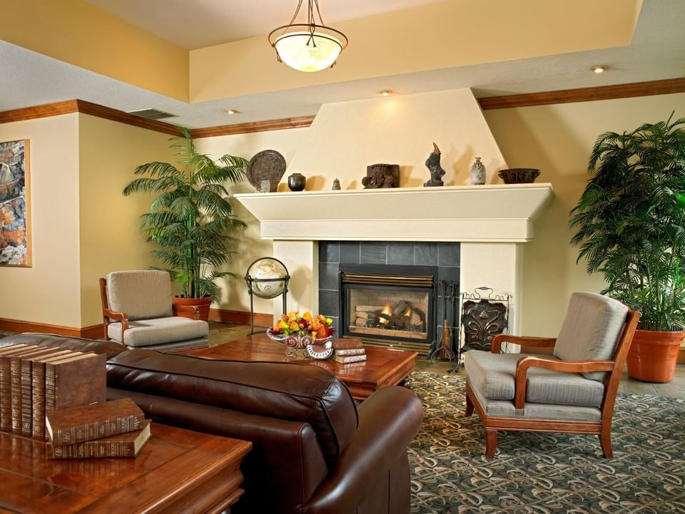 Hotel Lobby area with a fireplace at Varscona Hotel on Whyte