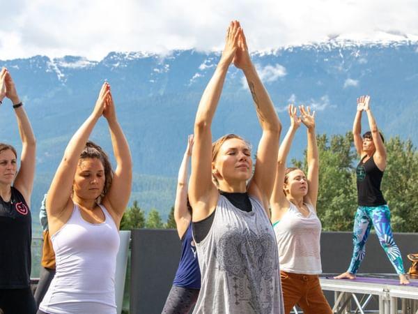 Yoga in the Plaza Sutton Place Hotel Revelstoke