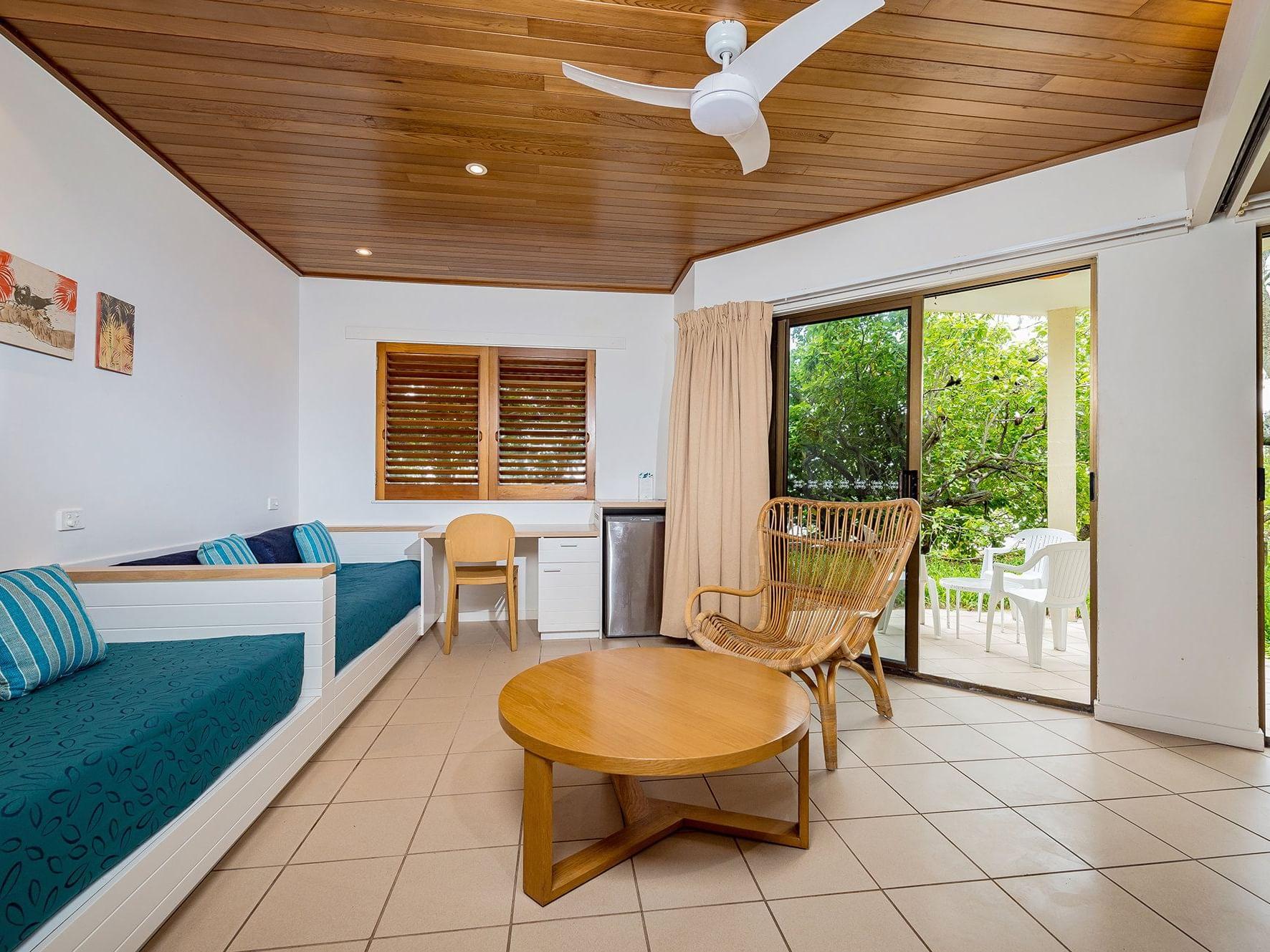 Beachside Room at Heron Island Resort in Queensland, Australia