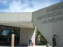 entrance to the idaho historical museum