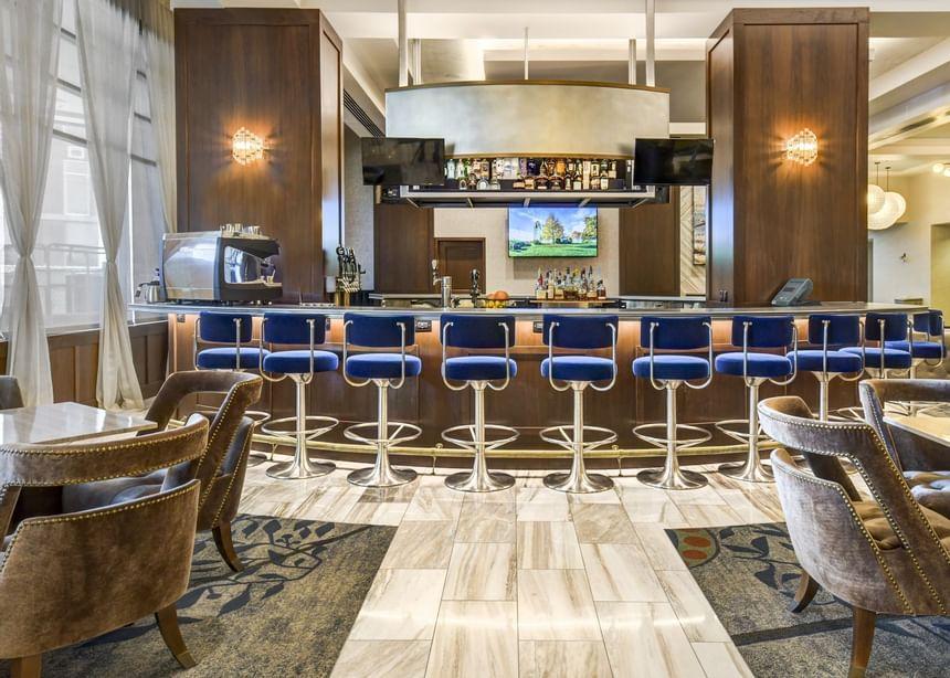 a bar in a hotel
