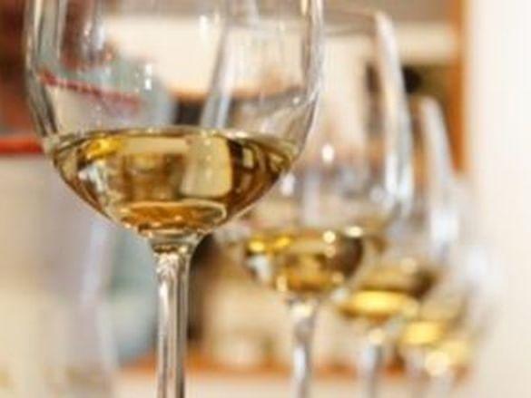 Wine glasses in Nashoba Valley Winery near Westford Regency