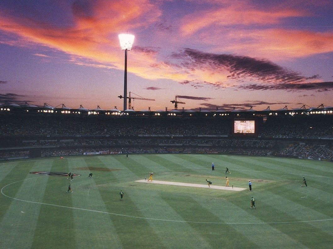 Players in Brisbane Cricket Ground near George Williams hotel