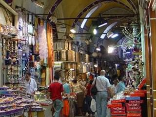 People shopping at the Grand Bazaar near CVK Hotels