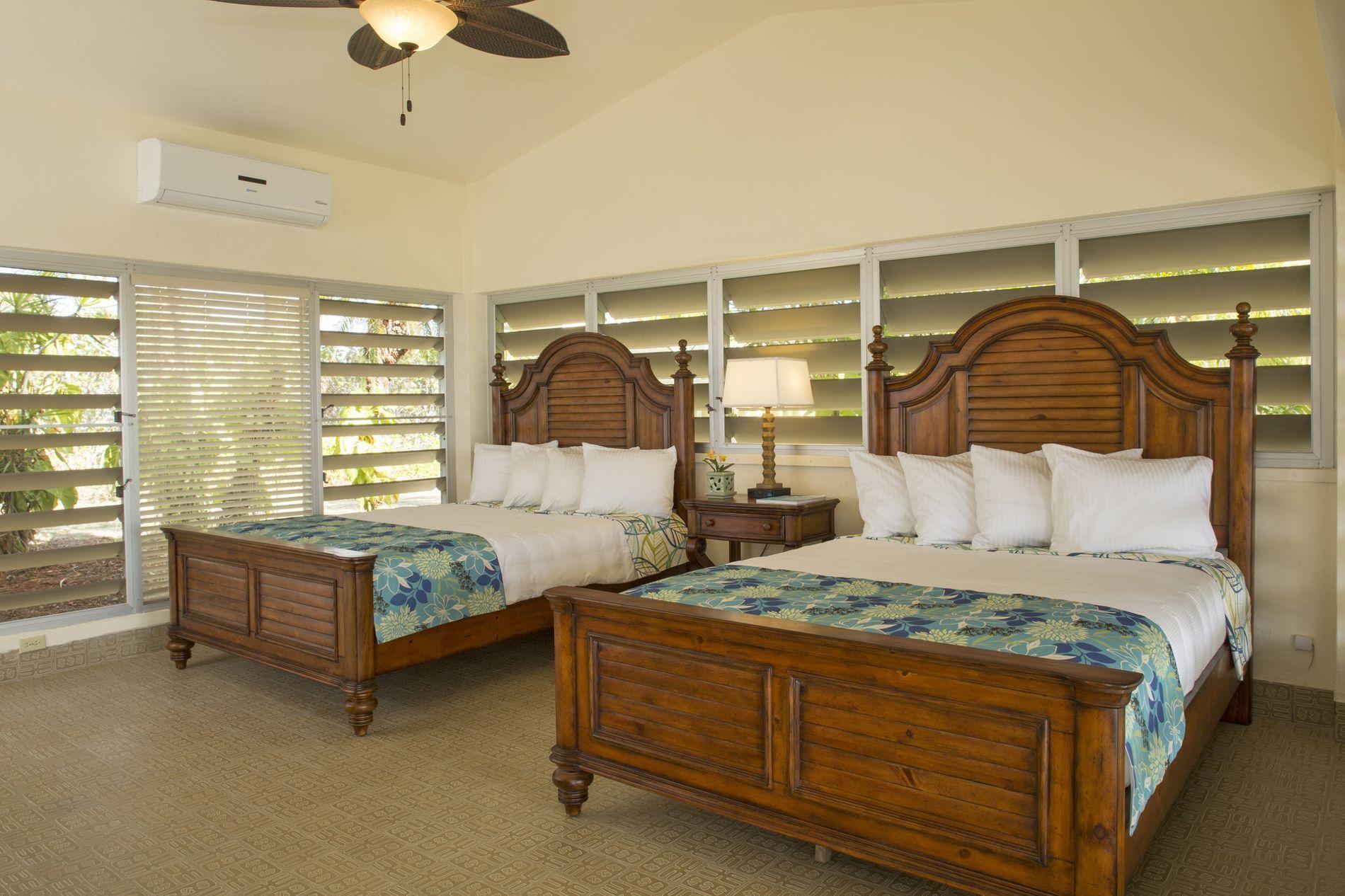 Flamboyant Bedroom Double Queen Beds