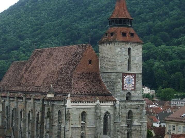 Exterior of The Black Church near Ana Hotels in Romania