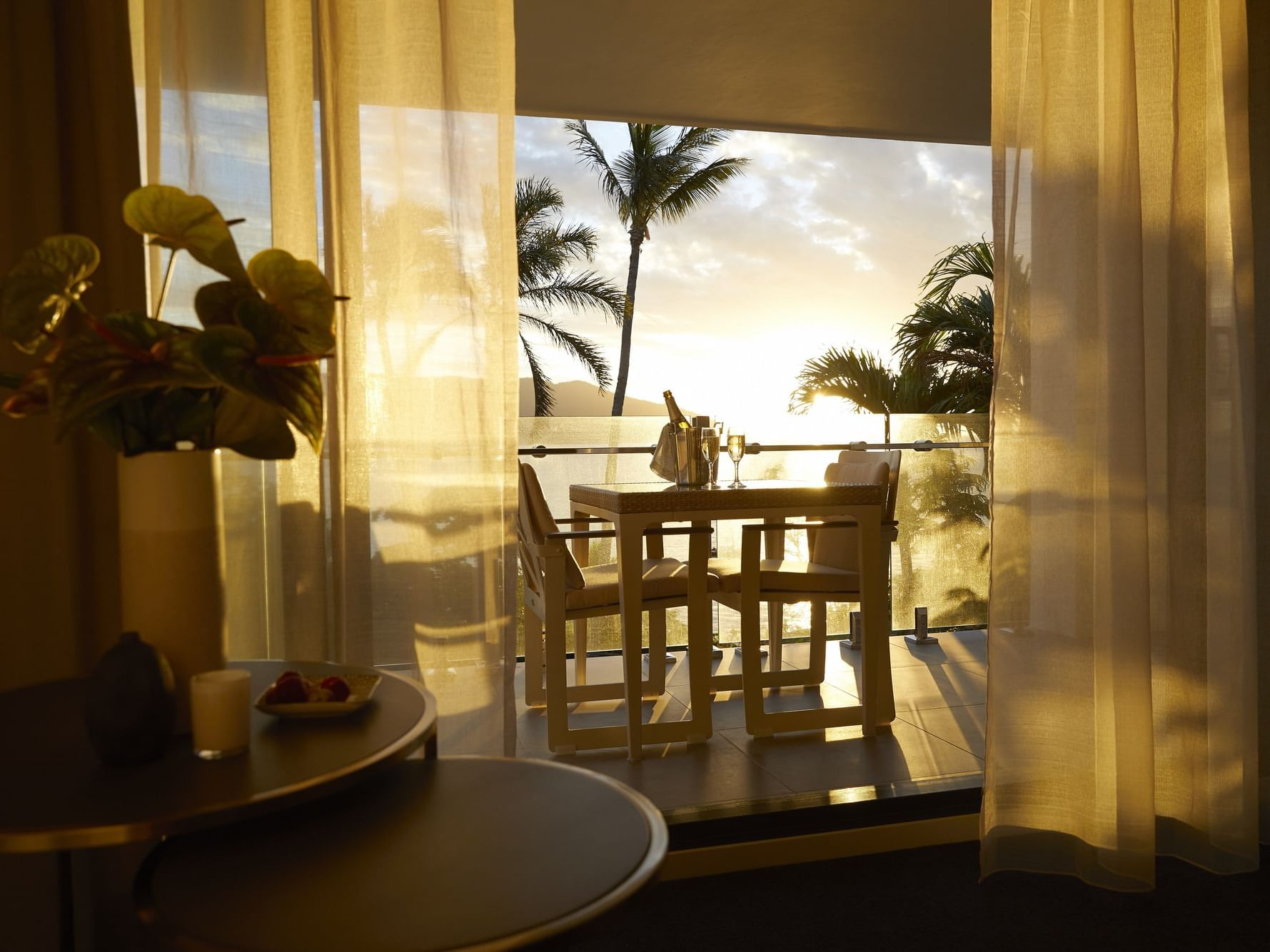 Sunset from Serenity room terrace at Daydream Island Resort