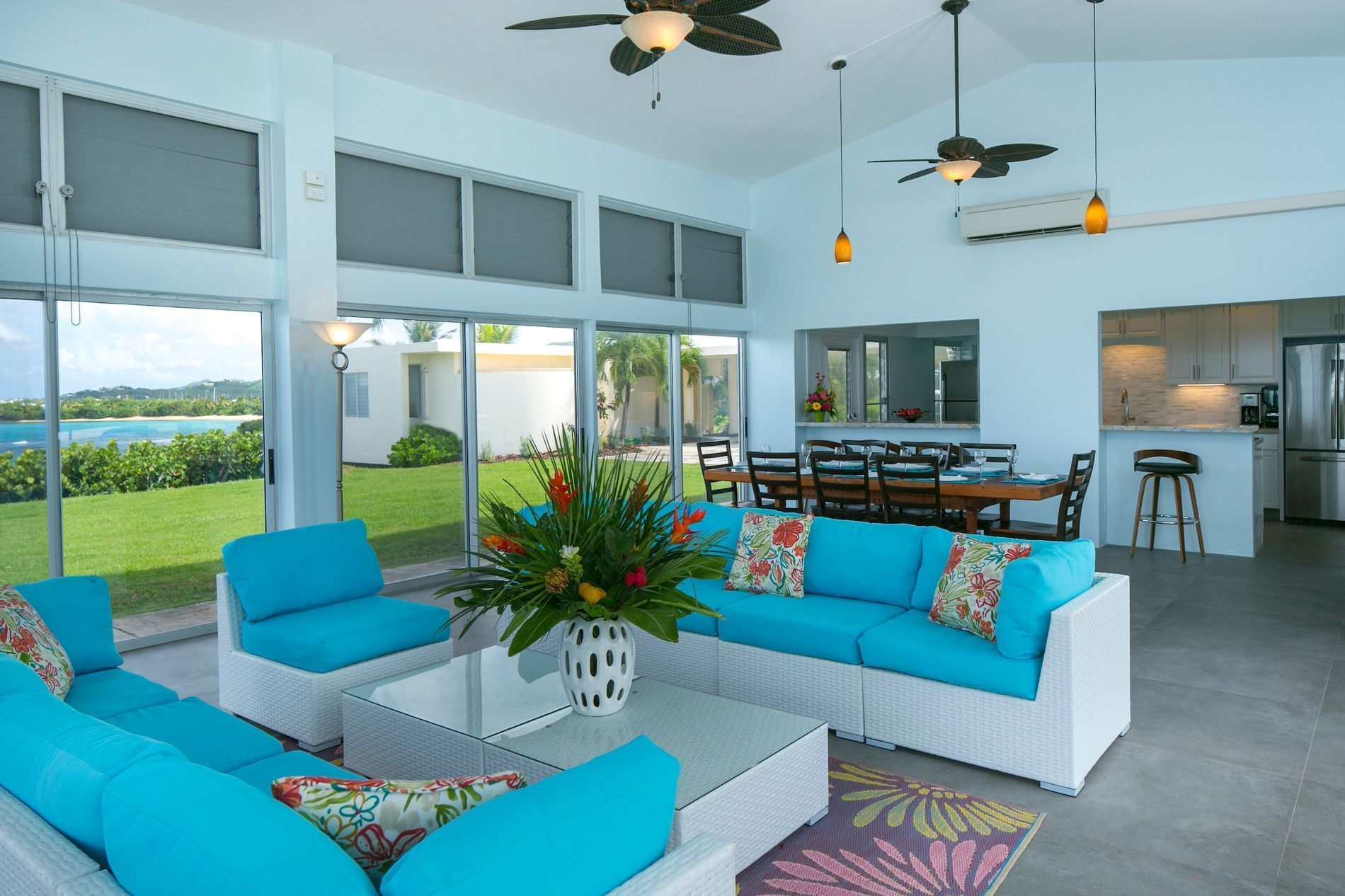 Suite Living Room and Dining Area with Ocean View
