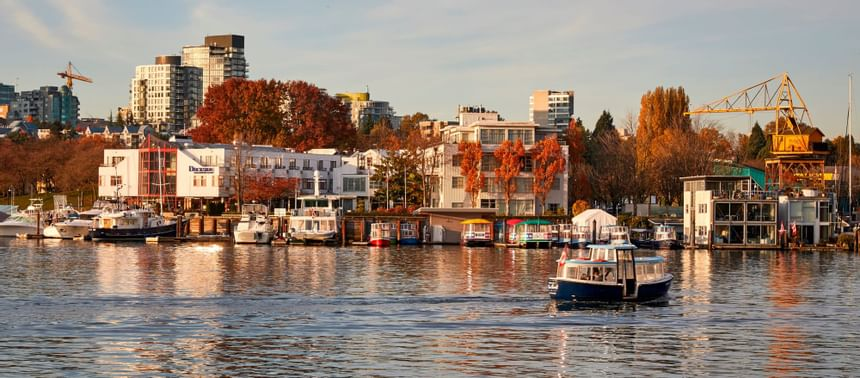 View of Boat cruising experience at Granville island
