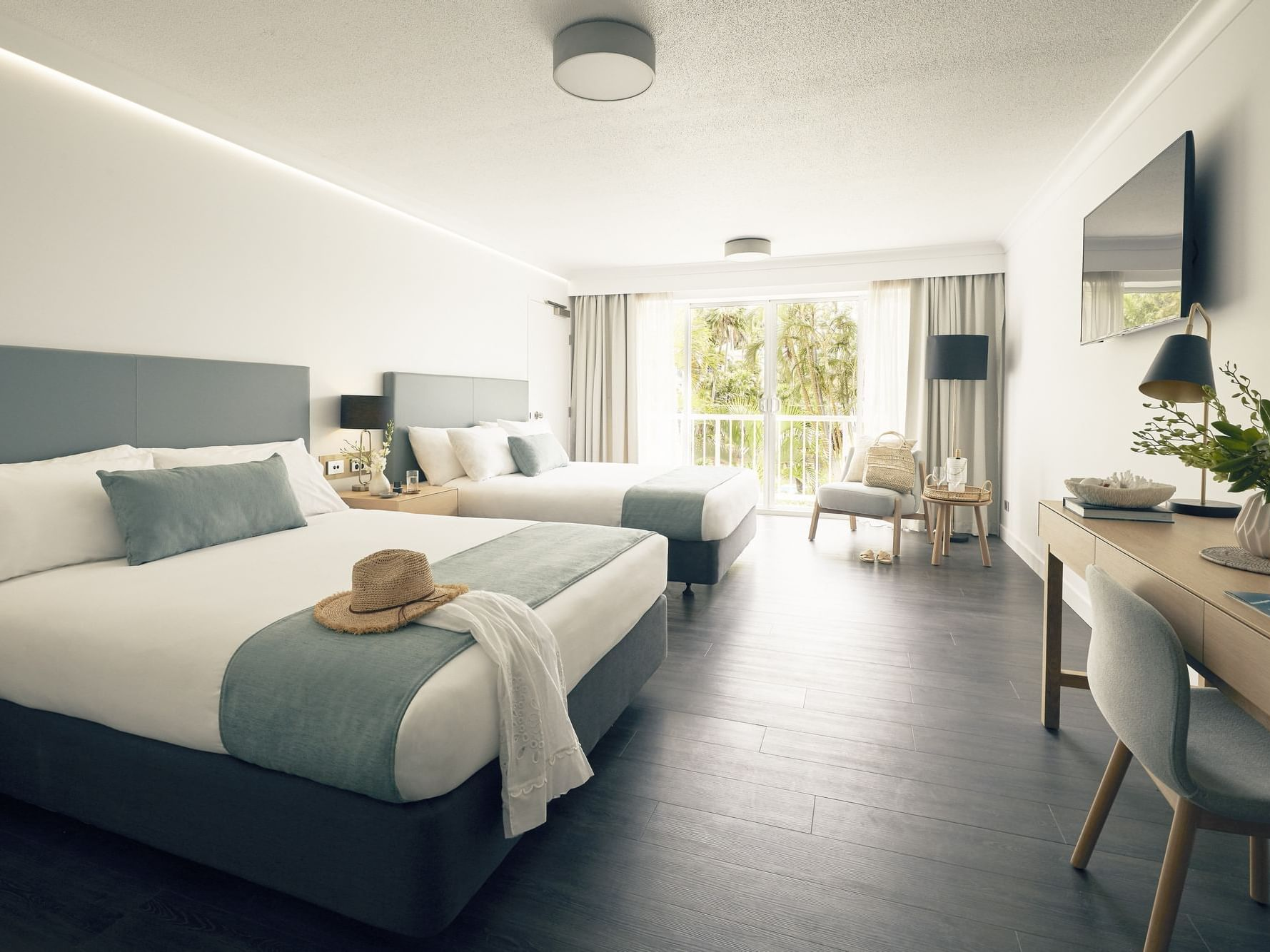 Two double beds in Superior room at Daydream Island Resort