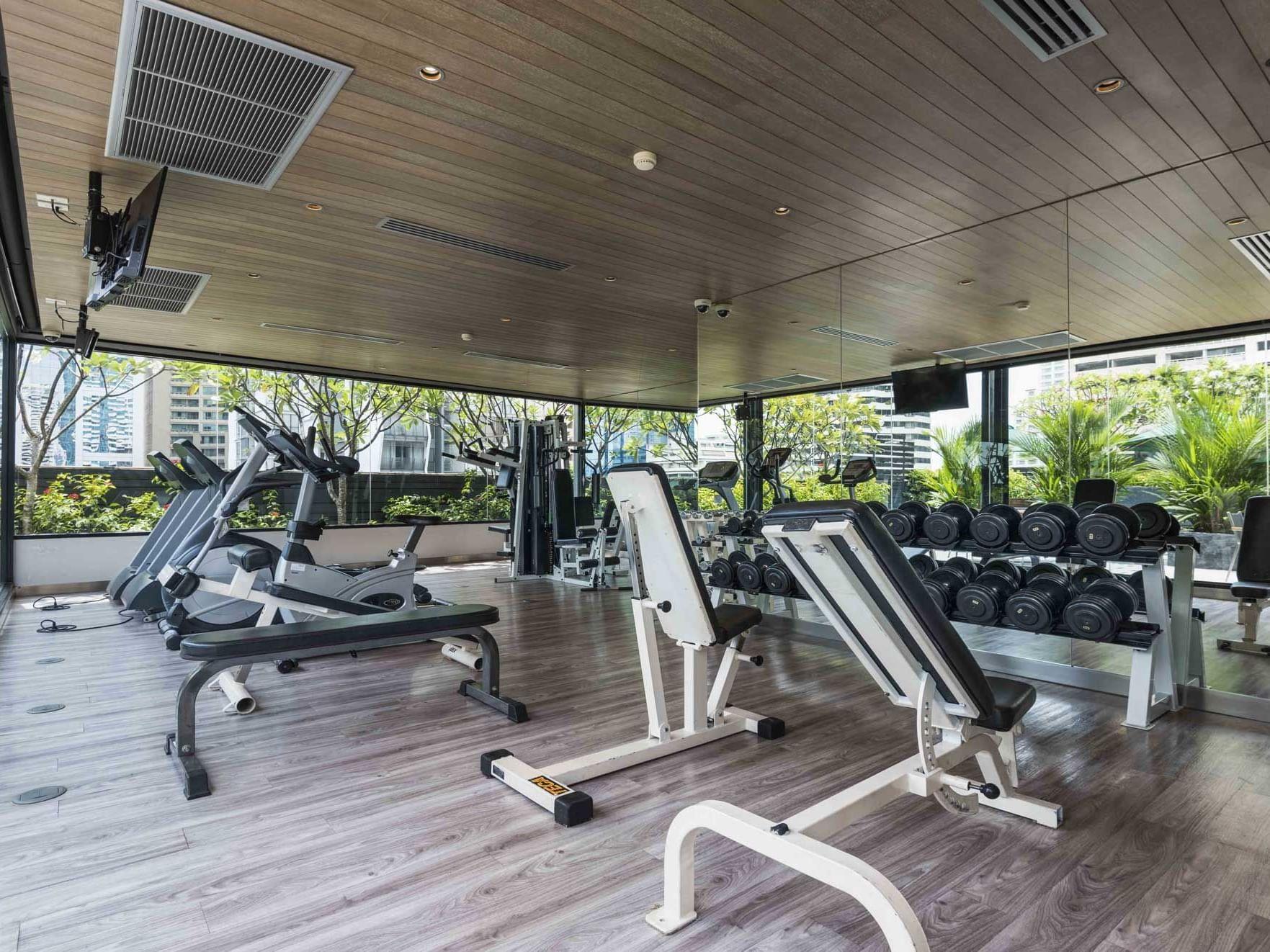 View of Fitness center at Maitria Hotel Sukhumvit 18 Bangkok