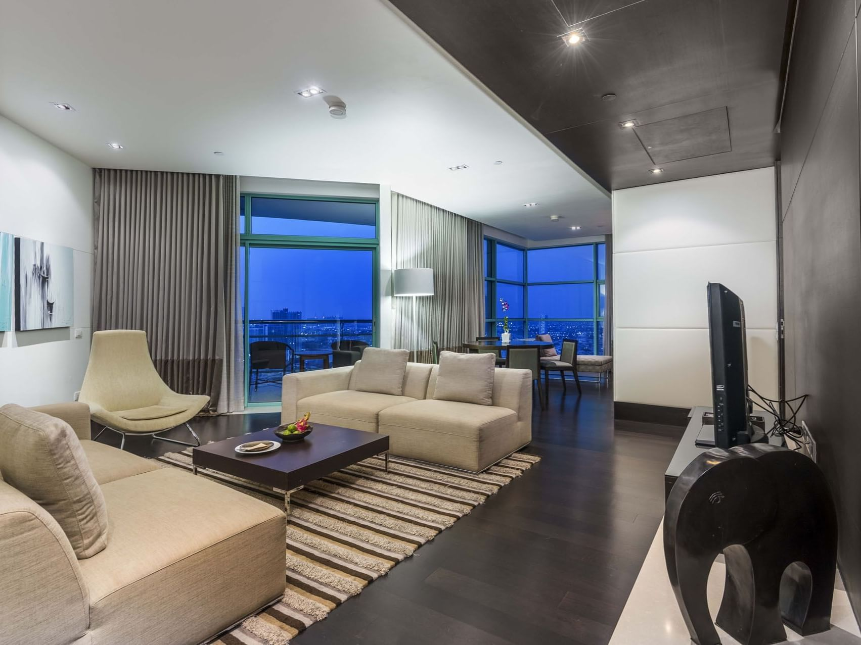 View of Premiere Suite One Bedroom at Chatrium Hotel Riverside