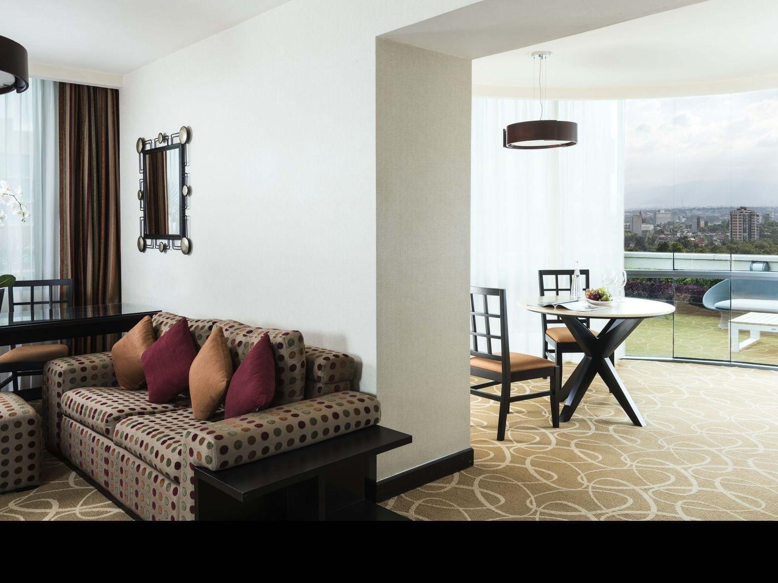 Master Suite Sitting area  at Grand Fiesta Americana Guadalajara Country Club