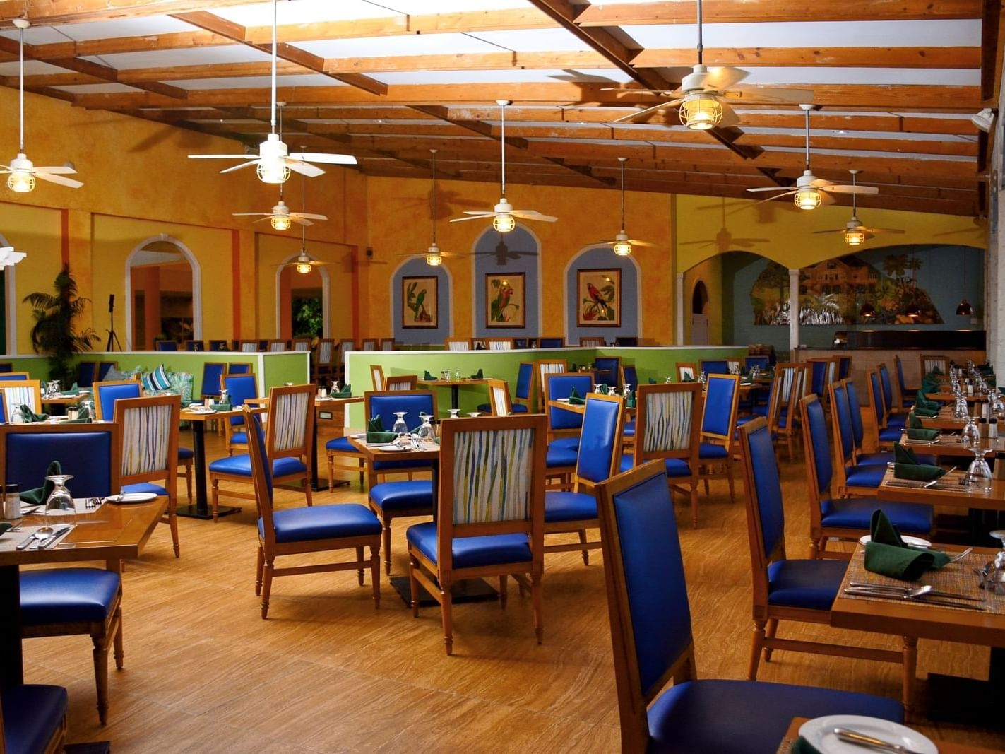 Interior of De Terrace restaurant at Holiday Inn Montego Bay