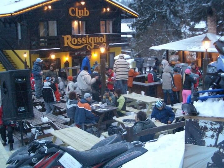 People at The Rossignol Club near Ana Hotels in Romania