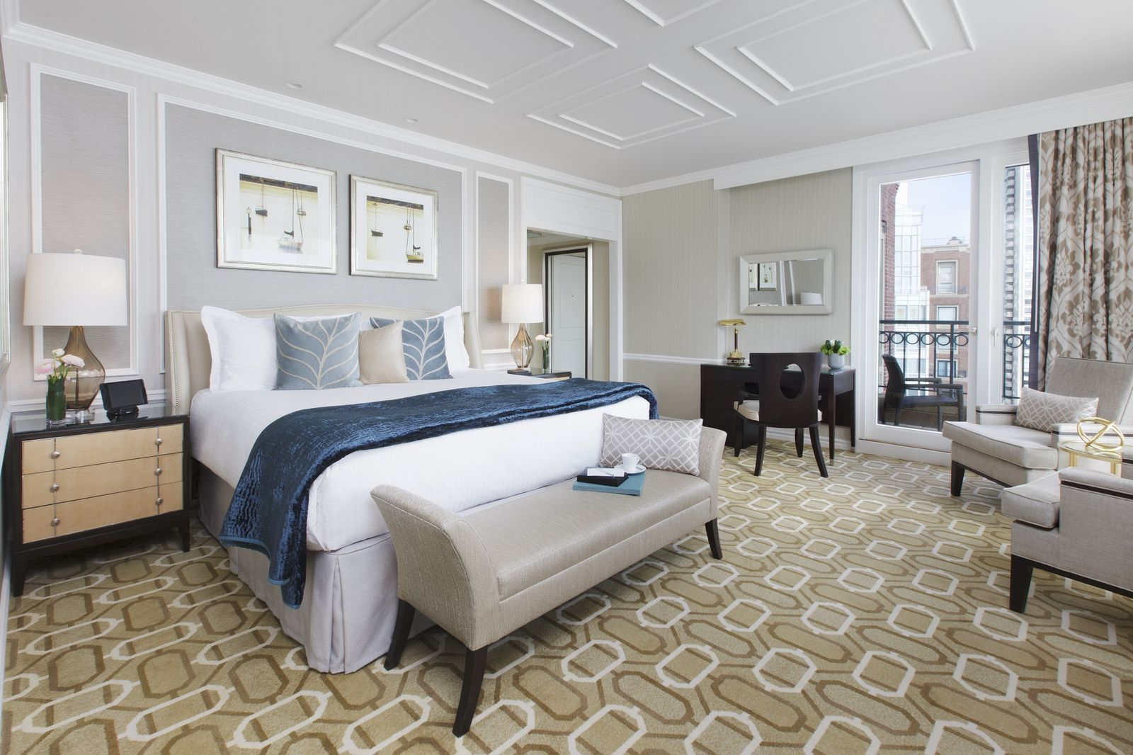 Presidential Suite bedroom with king bed