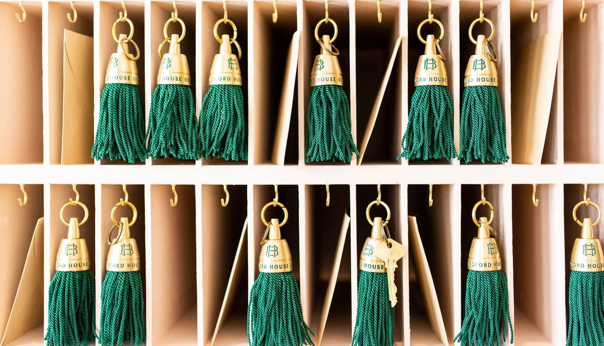 keys with green strings