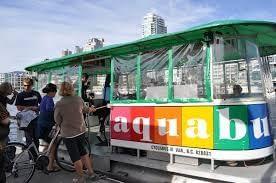 An aqua bus experience near Granville Island Hotel
