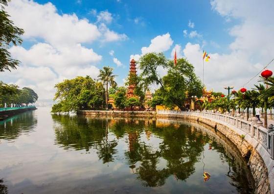 Lake at Hanoi Daewoo Hotel