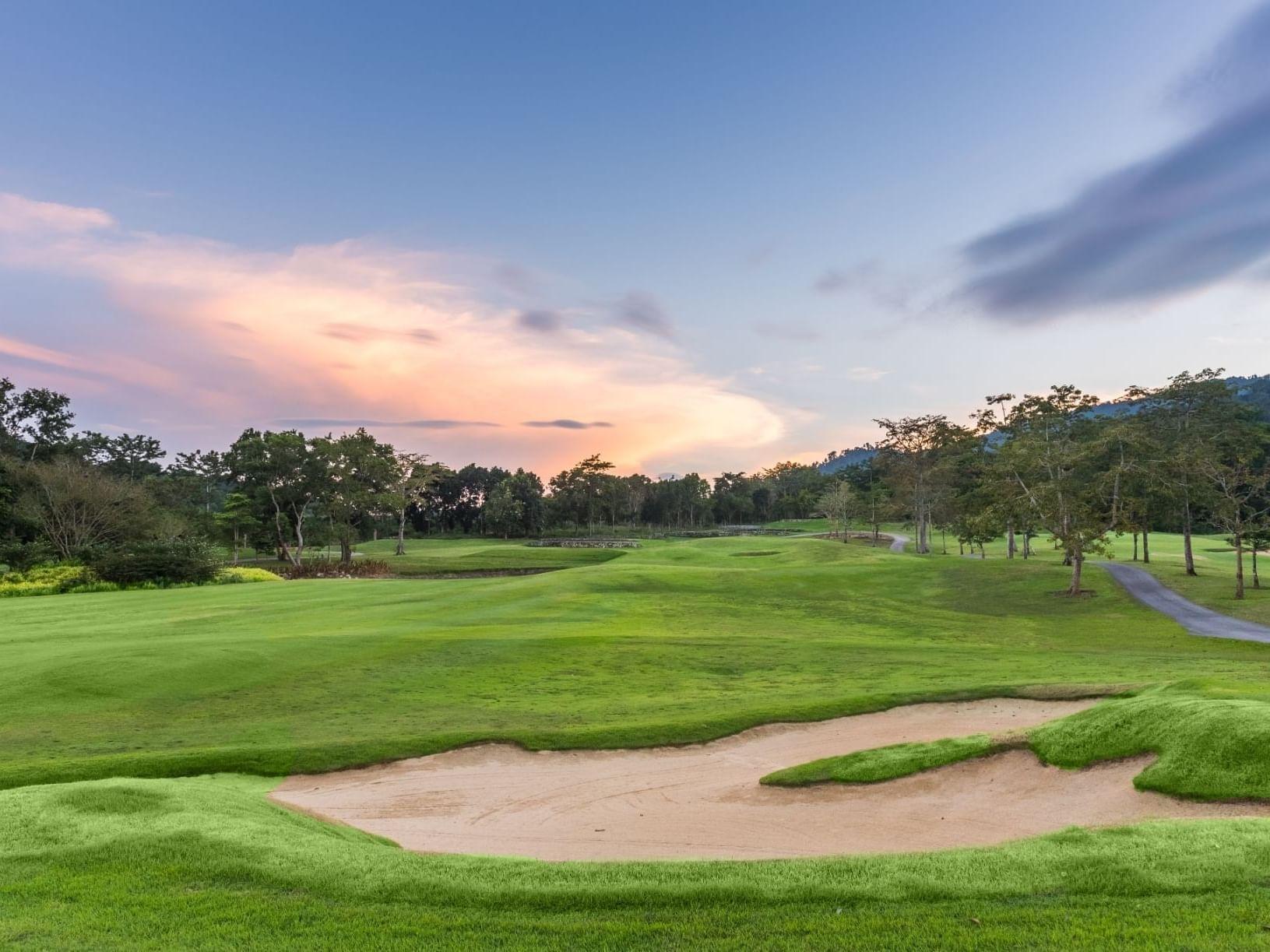 Golf ground at Chatrium Golf Resort Soi Dao Chanthaburi