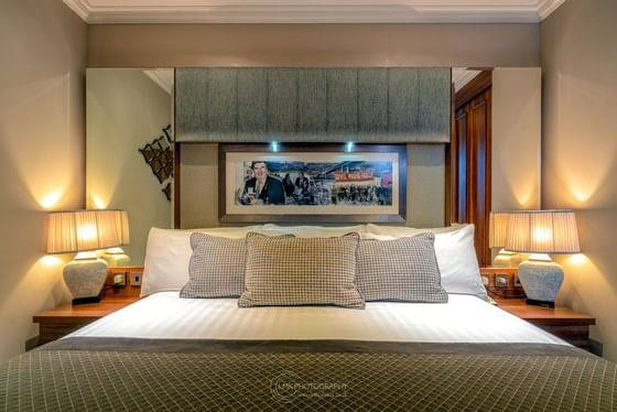 City Hotel Derry Hume Suite View Of Double Bed
