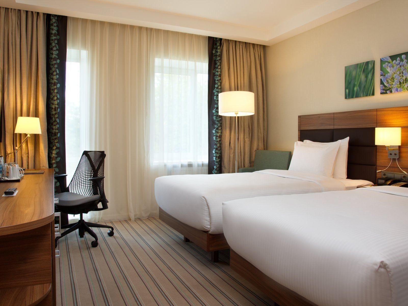 Twin Room at Hilton Garden Inn Moscow New Riga Hotel