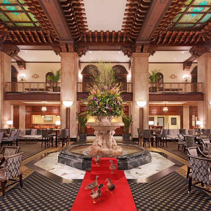 2018 image of Peabody Ducks at Peabody Hotels & Resorts