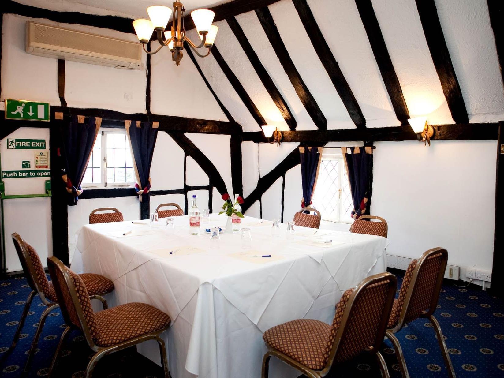 Tudor meeting room at Barn Hotel Ruislip near London