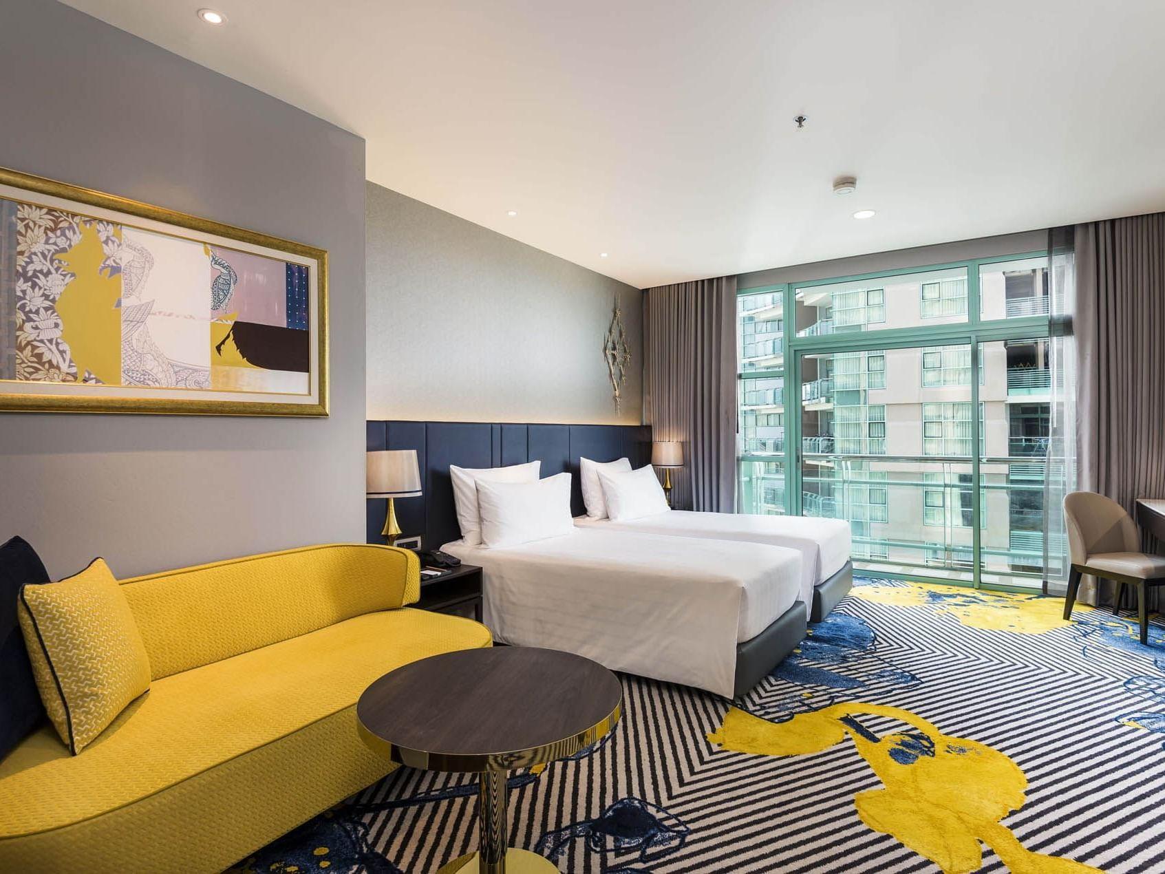Grand room with city view at Chatrium Hotel Riverside Bangkok