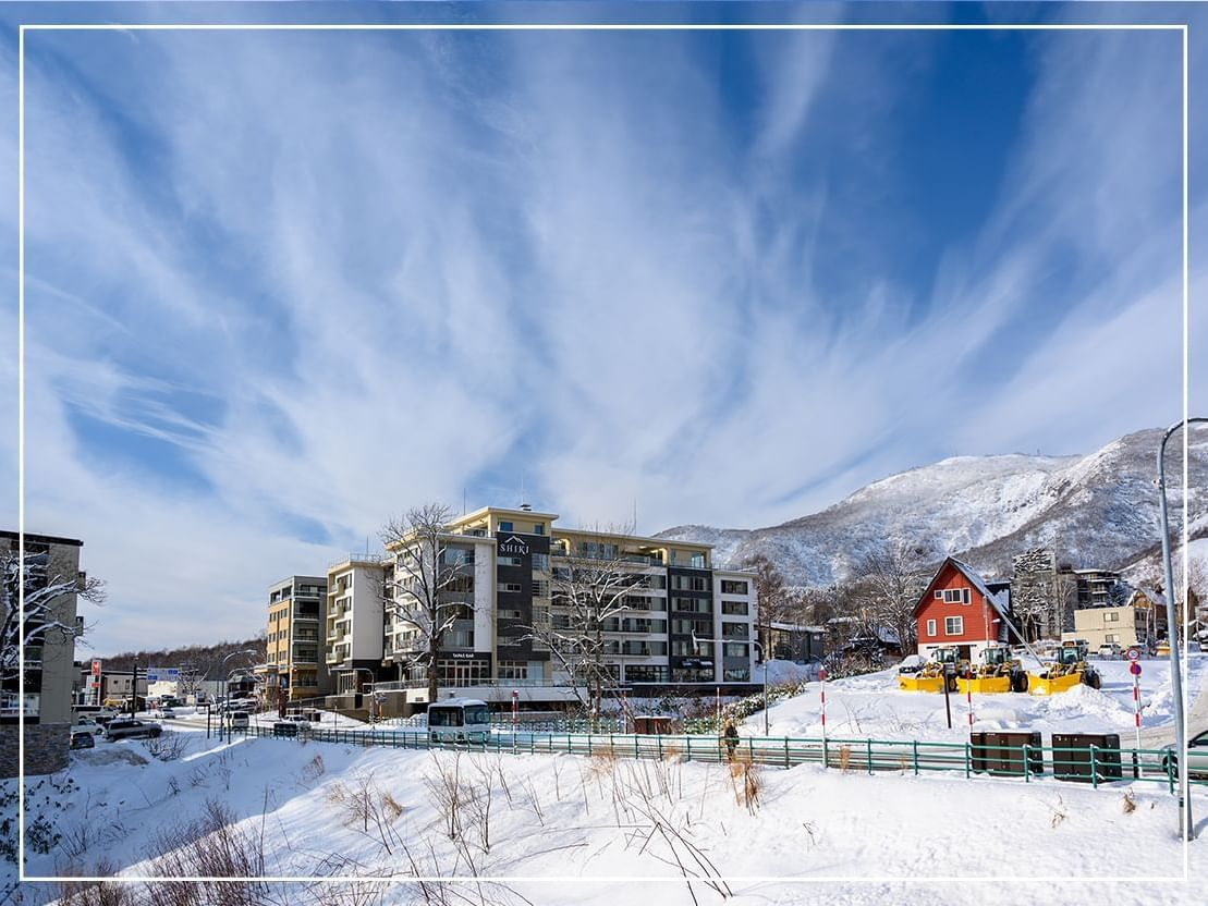Exterior view Of Chatrium Hotel at Winter