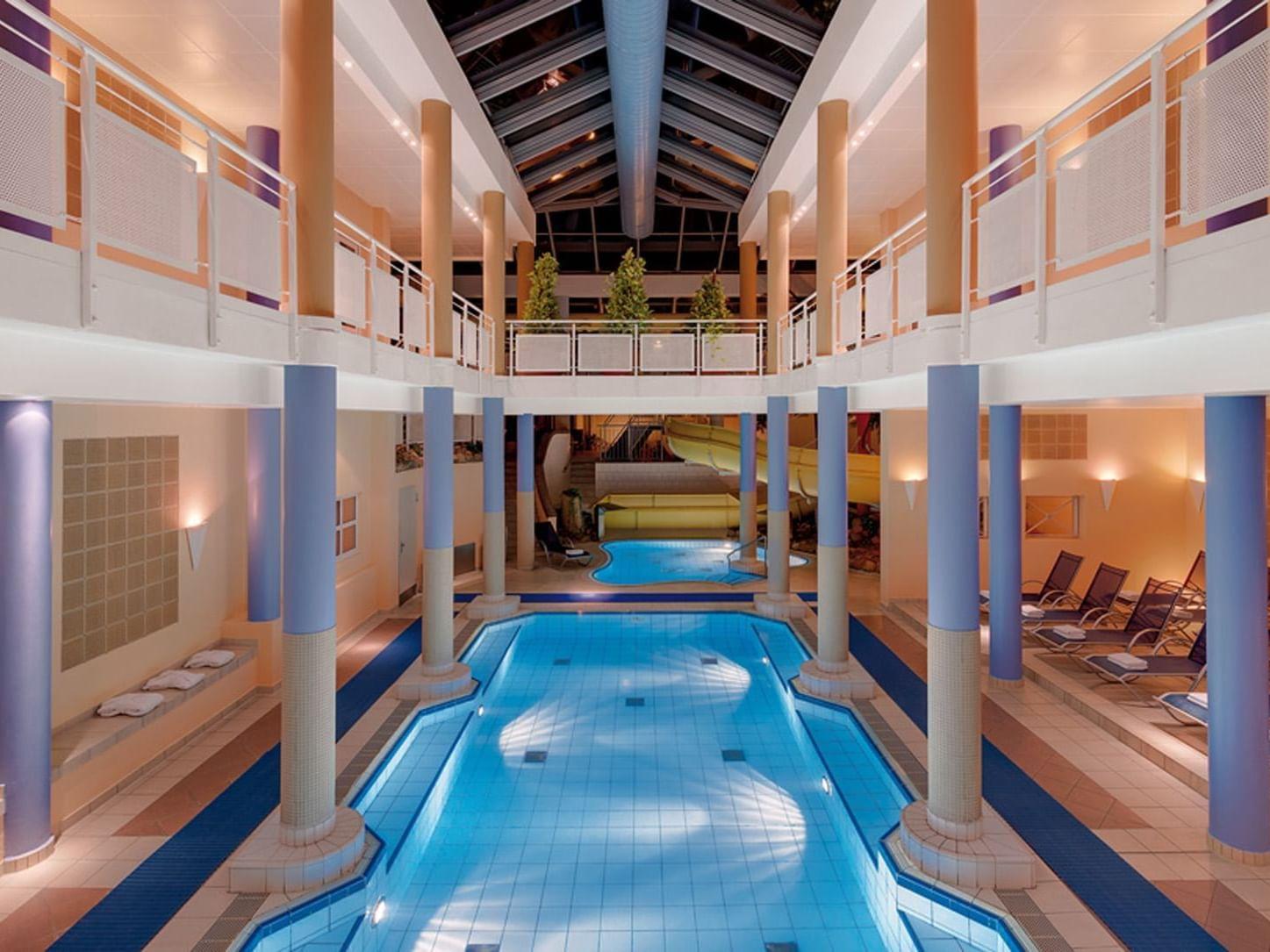swimming pool at Precise Resort Marina Wolfsbruch