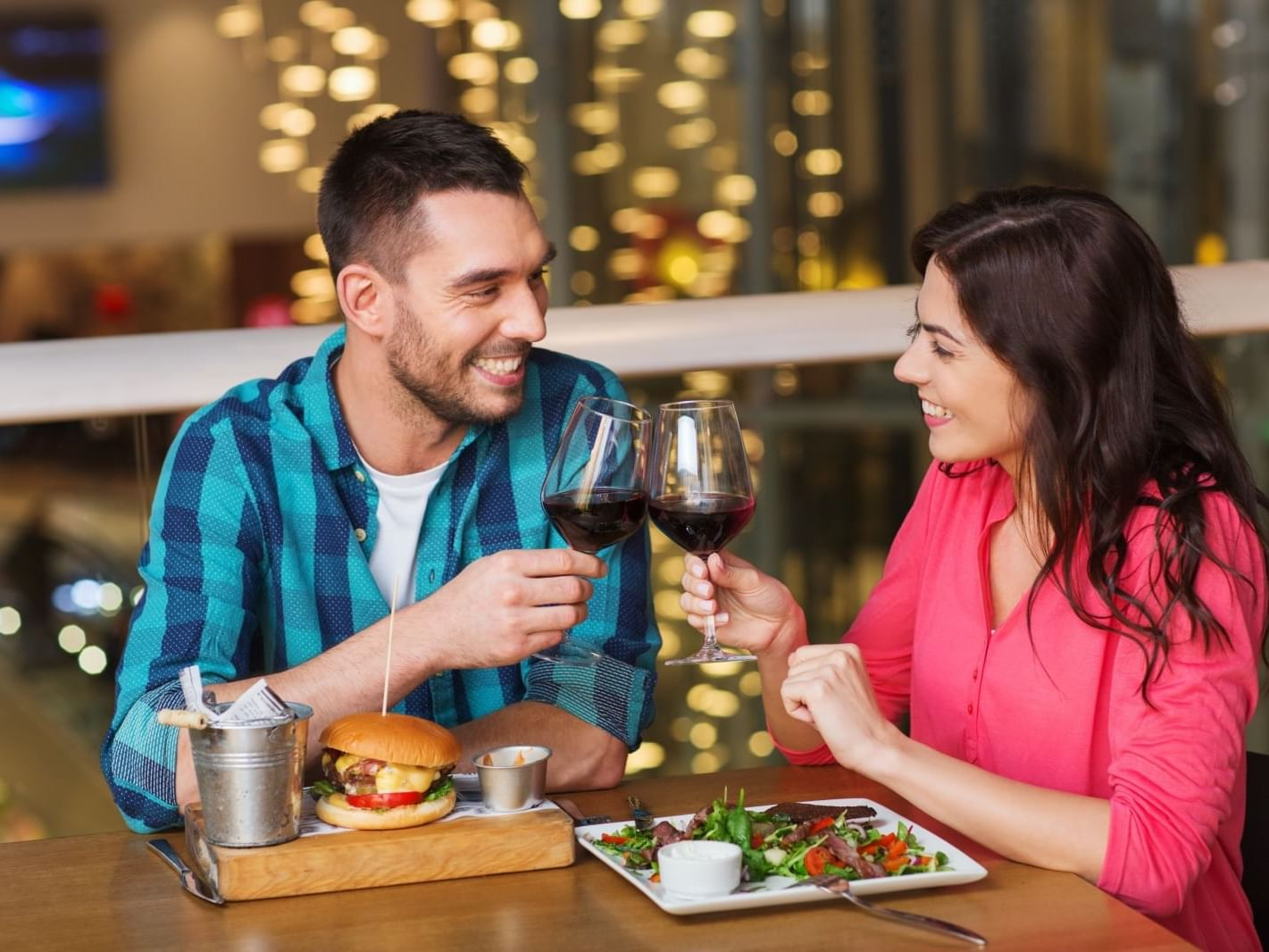 A couple dining at Carriage House Hotel