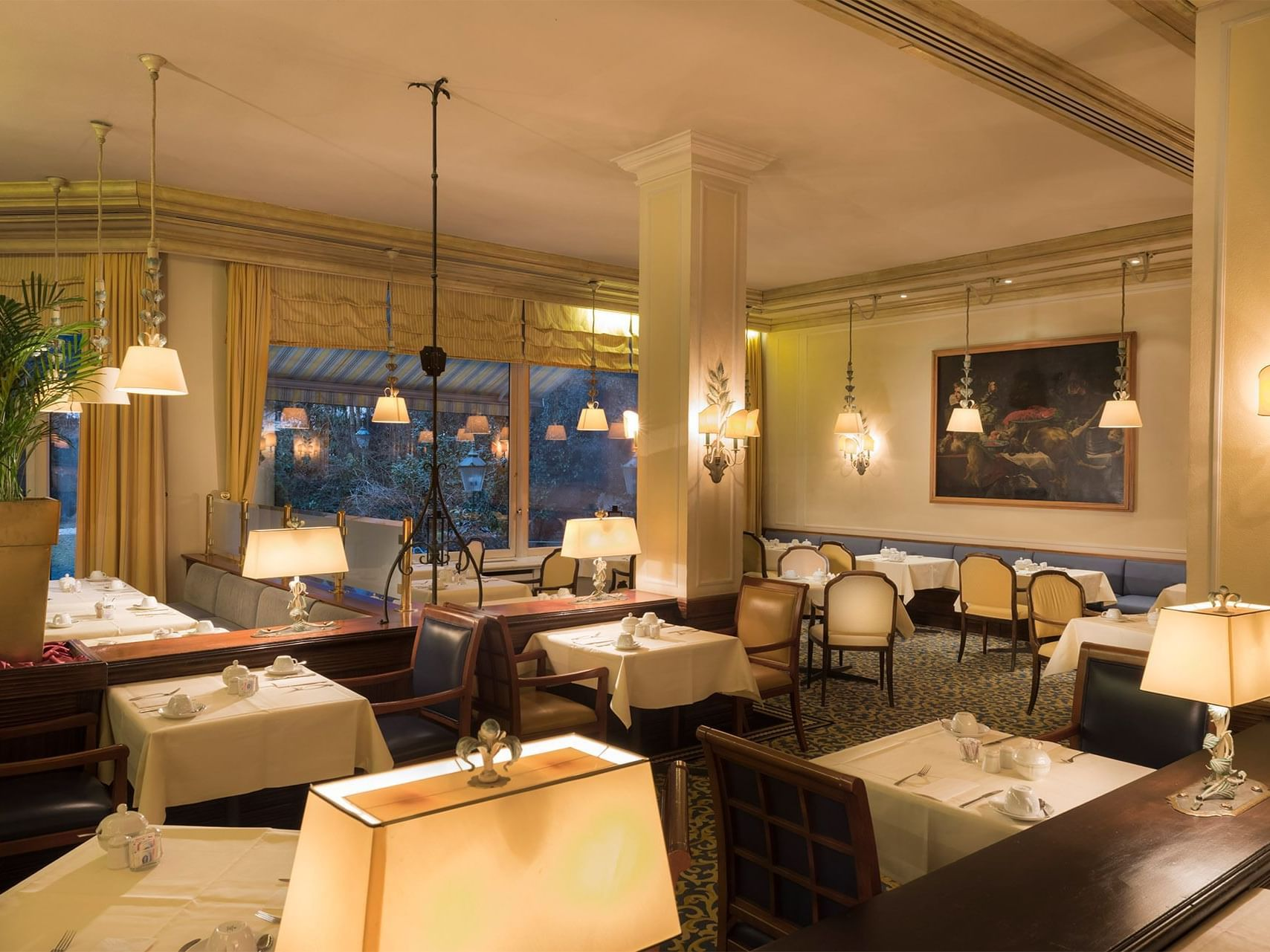 Interior of Park Restaurant at Precise Bad Reichenhall Bavaria