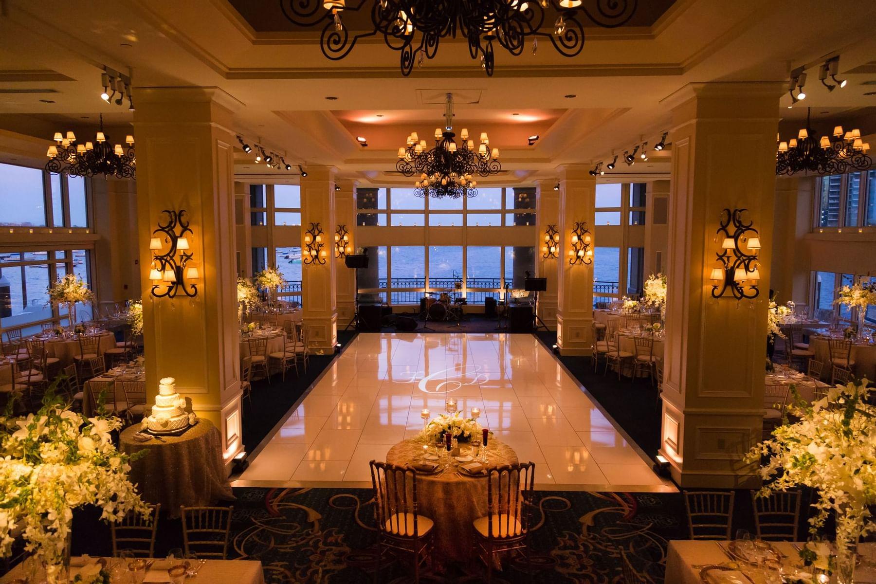 Cozy interior of Boston Harbor Hotel