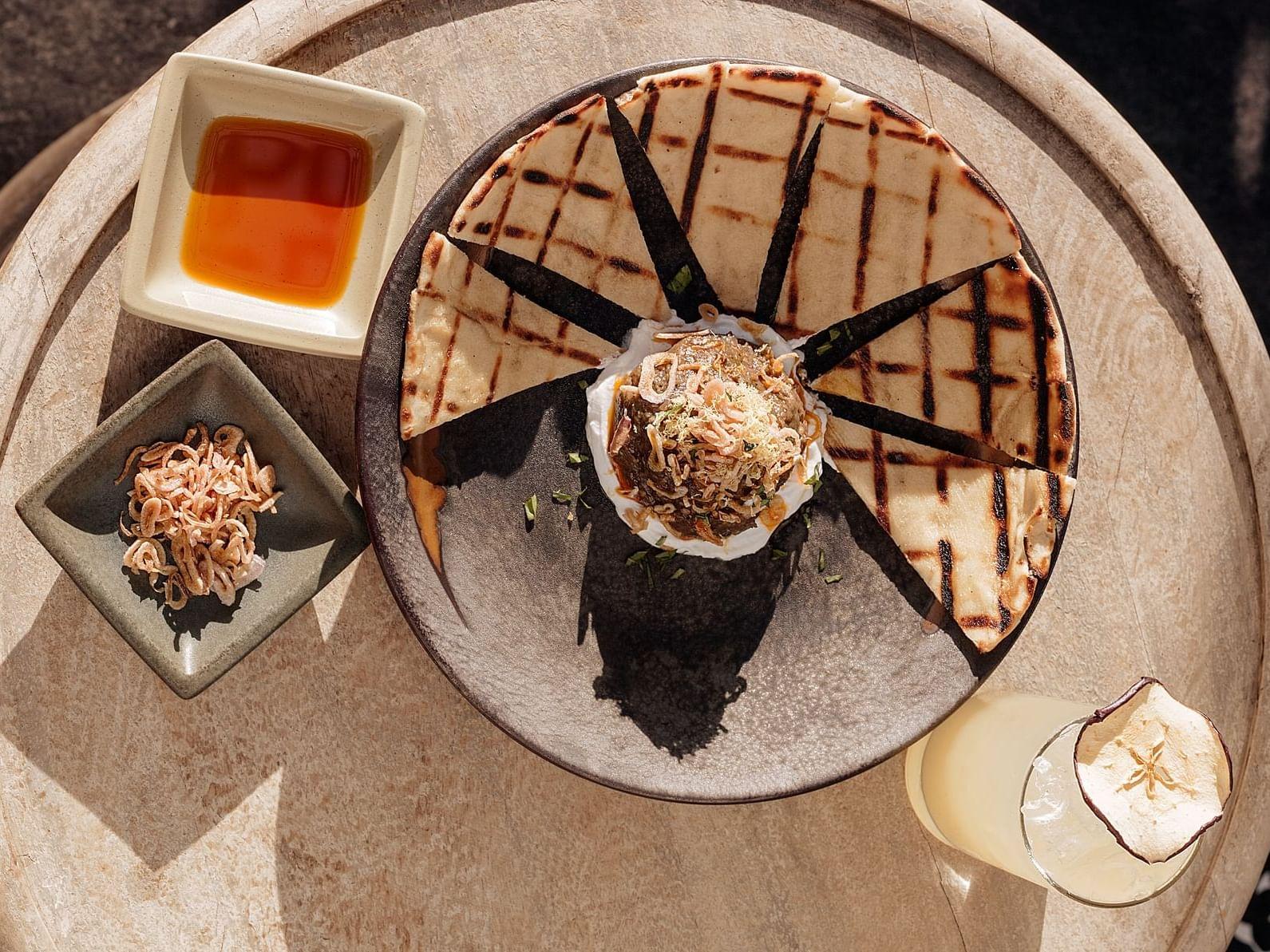 Desserts served in restaurant at the La Coleccion Resorts