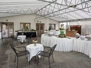 Banquet Terrace with Serpentine Buffet Table