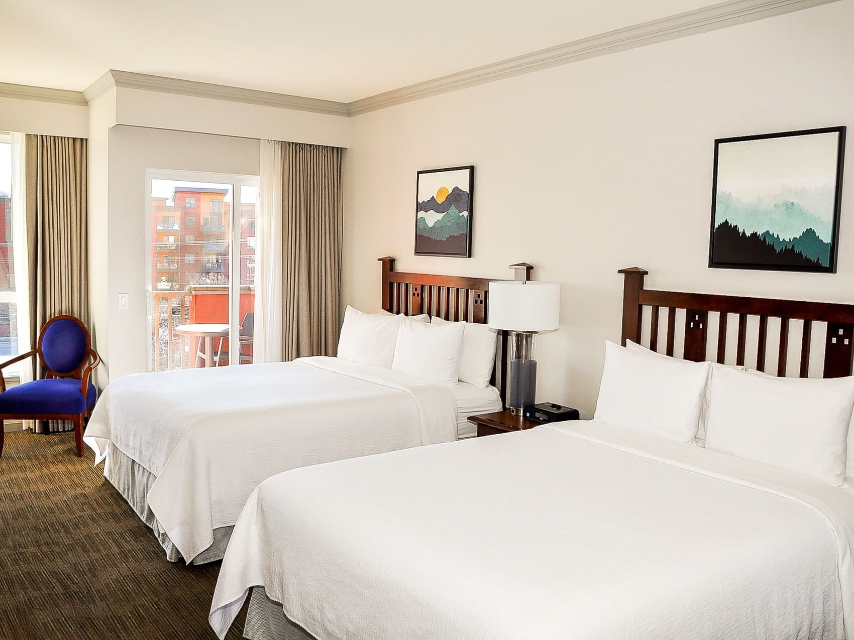 Deluxe Guest Room with two beds at Manteo Resort