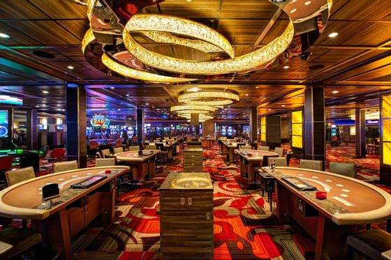 poker tables in a casino