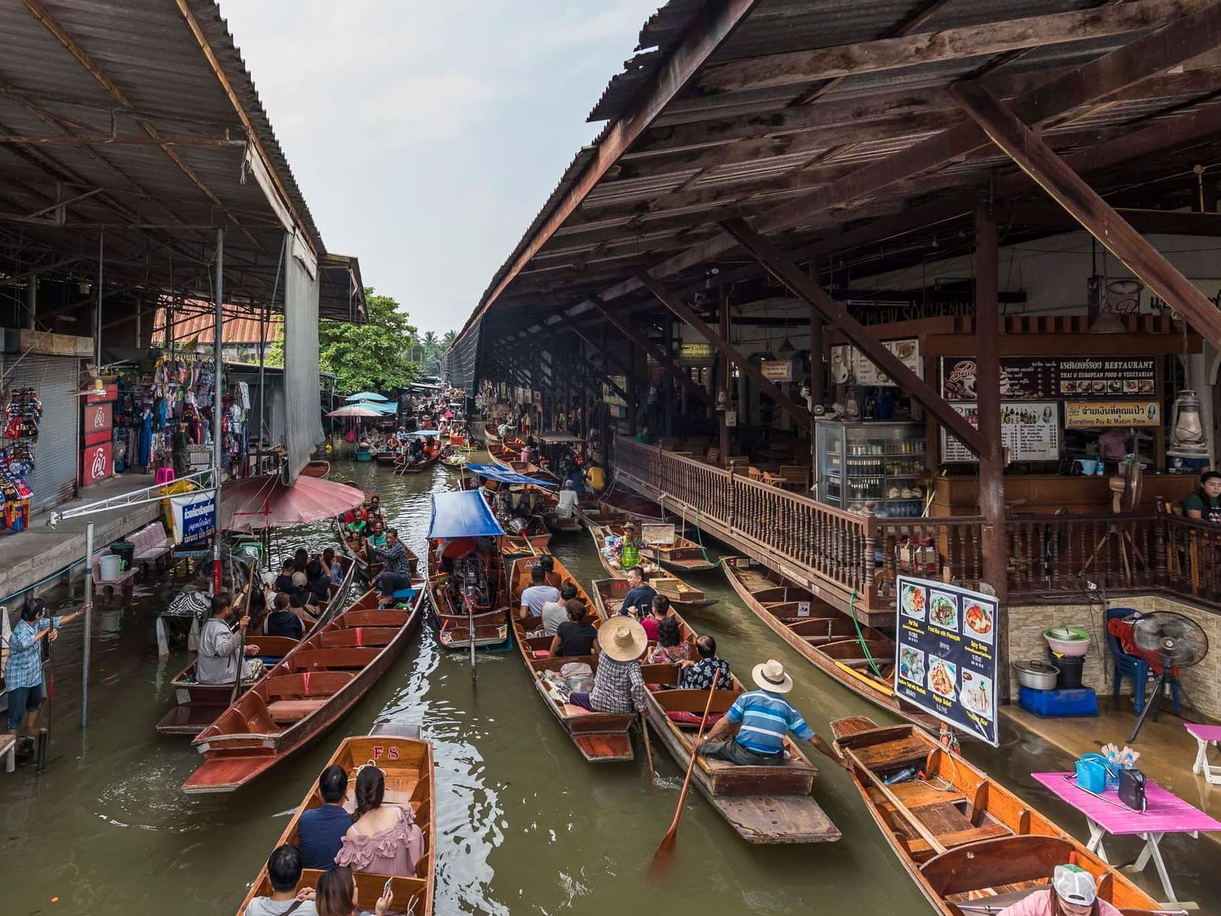 Damnoen Saduak Floating Market near Chatrium Hotel Riverside Bangkok