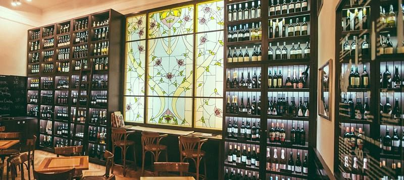 Union Cafe Wine library