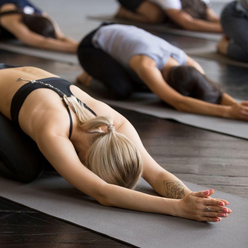 Women doing Yoga at Falkensteiner Spa Resort Mariánské Lázně