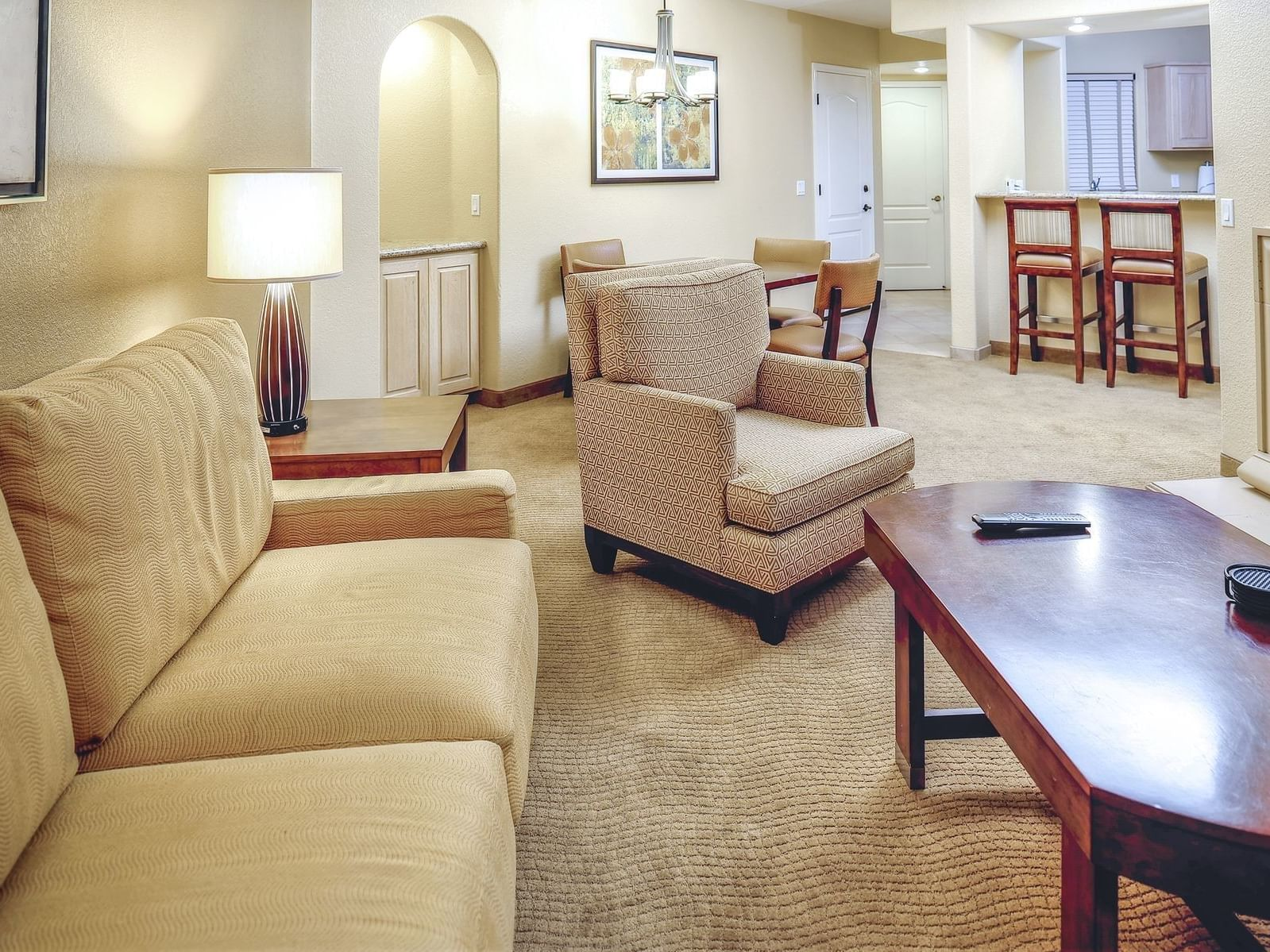 Comfortable Living are of Two Bedroom Suite at Diamond Sedona Portal Hotel