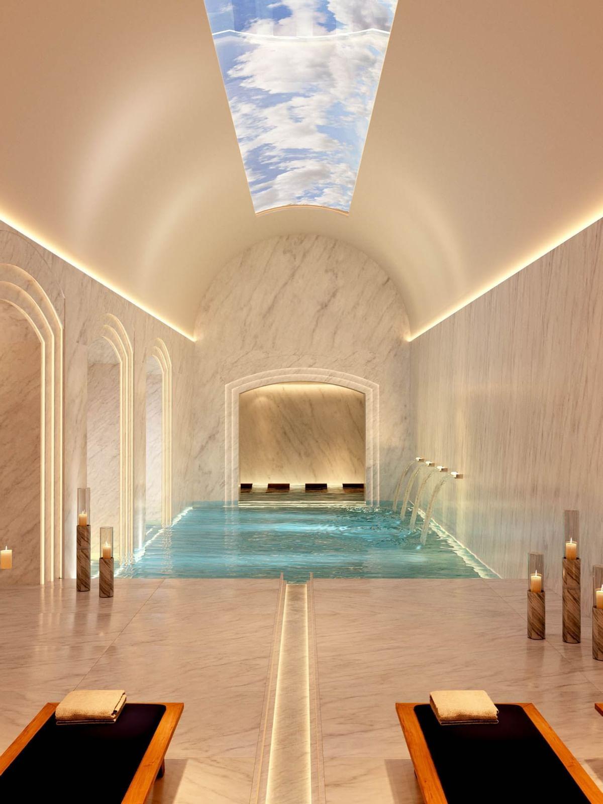 Indoor swimming pool at Almanac Vienna