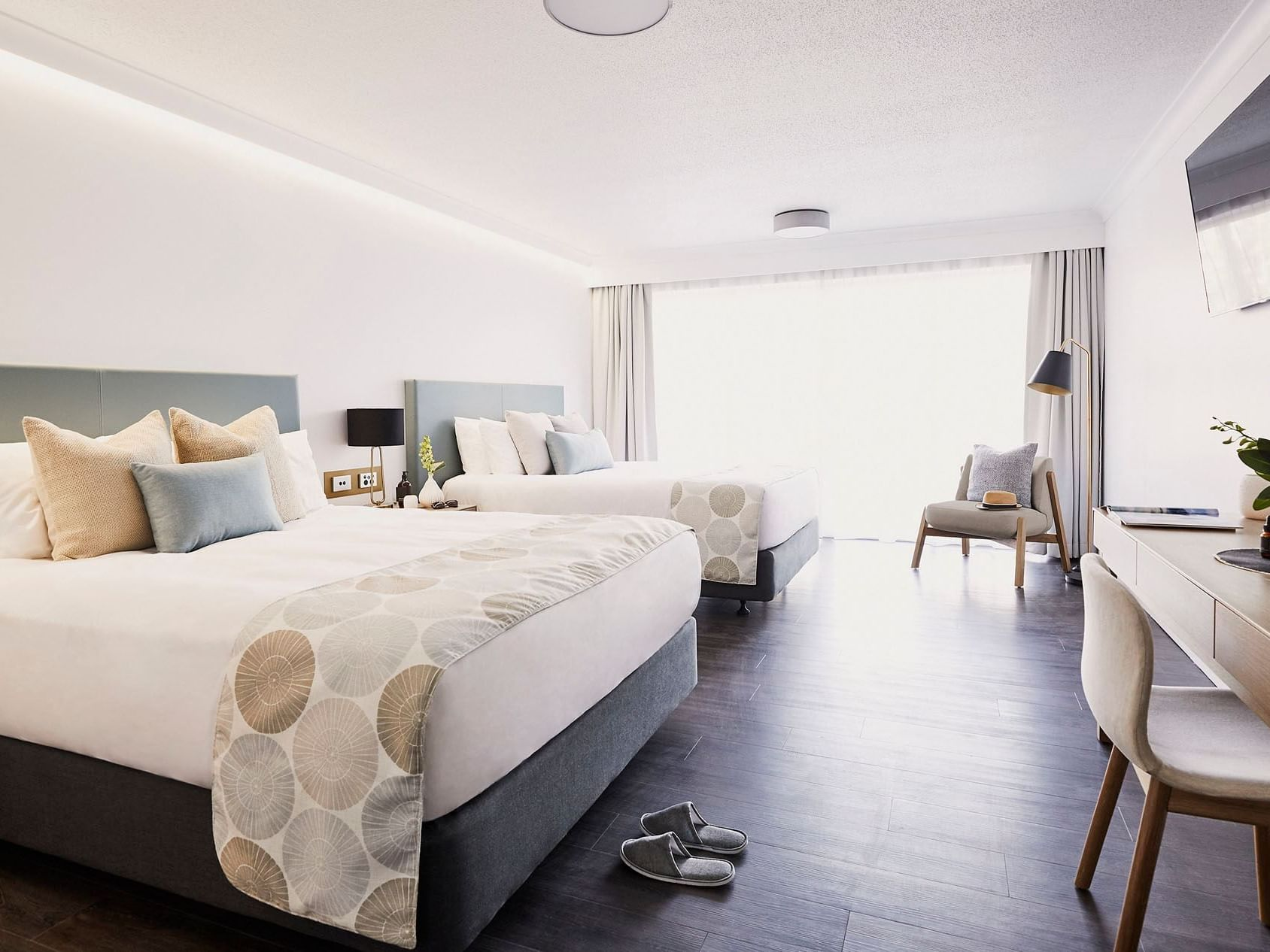 Double beds in Family room at Daydream Island Resort
