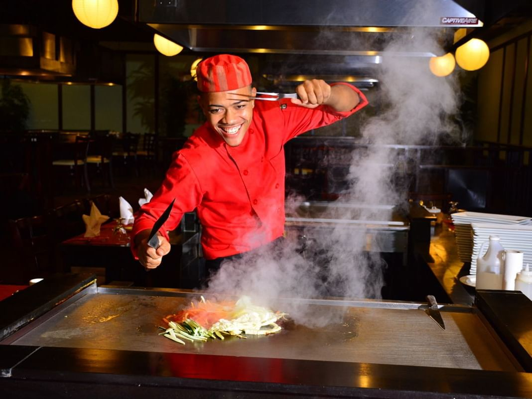 Chef in Kenko Japanese Restaurant at Holiday Inn Montego Bay