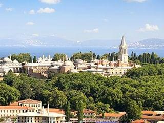 Aerial view of Topkapi Palace near CVK Hotels